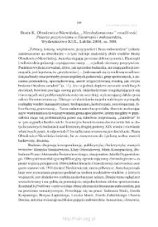 """Beata K. Obsulewicz-Niewińska, """"«Nieobałamucona» wrażliwość. Pisarze pozytywizmu o filantropii i miłosierdziu"""", Lublin 2008"""