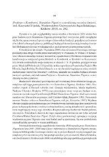 """""""Profesor z Komborni. Stanisław Pigoń w czterdziestą rocznicę śmierci"""", red. Krzysztof Fijołek, Kraków 2010"""