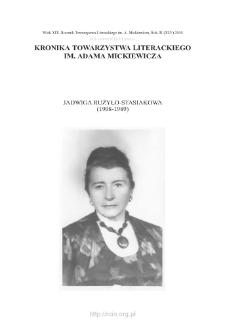 Jadwiga Rużyło-Stasiakowa (1908–1989)