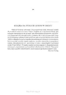 Książka na stulecie Liceum w Grójcu
