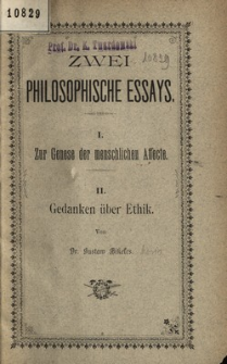 Zwei philosophische Essays