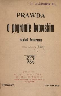 Prawda o pogromie lwowskim