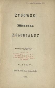Żydowski Bank Kolonialny.