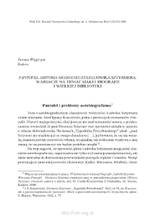 """""""Pantofel. Historia mojego kuzyna Ludwika Sztyrmera"""". Wariacje na temat małej biografii i wielkiej biblioteki"""