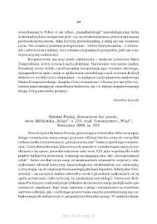 """Bohdan Pociej, Romantyzm bez granic, seria: Biblioteka """"Więzi"""", t. 224, wyd. Towarzystwo """"Więź"""", Warszawa 2008, ss. 195"""