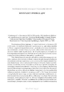 """""""Codzienność w literaturze XIX (i XX) wieku. Od Adalberta Stiftera do współczesności"""", pod red. Grażyny Borkowskiej i Anety Mazur, Opole 2007"""