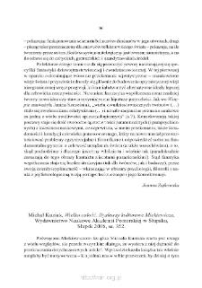 """Michał Kuziak, """"Wielka całość. Dyskursy kulturowe Mickiewicza"""", Słupsk 2006"""