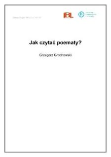 Jak czytać poematy?