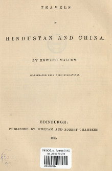 Travels in Hindustan and China