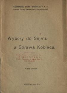 Wybory do Sejmu a sprawa kobieca.