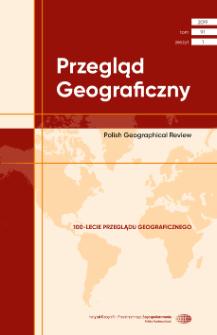 Przegląd Geograficzny T. 91 z. 1 (2019), Spis treści