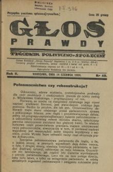 Głos Prawdy 1924 N.40