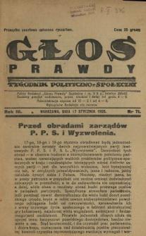 Głos Prawdy 1925 N.71