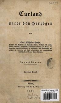 Curland unter den Herzögen : in zwei Bänden. Bd. 2