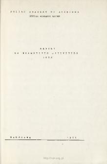 Report on Scientic Activities 1975