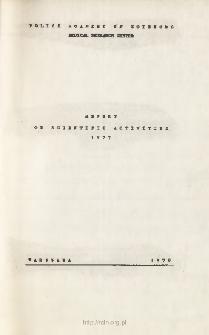 Report on Scientific Activities 1977
