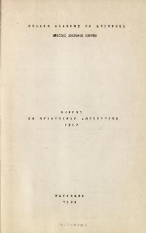 Report on Scientific Activites 1982