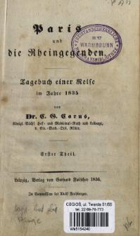 Paris und die Rheingegenden : Tagebuch einer Reise im Jahre 1835. T. 1