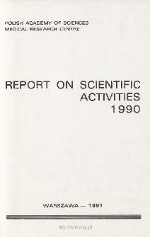 Report of Scientific Activities 1990