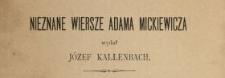 Nieznane wiersze Adama Mickiewicza