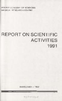 Report of Scientific Activities 1991