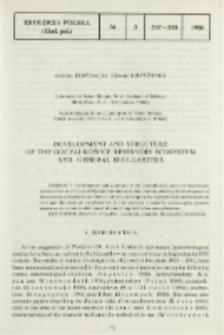 Development and structure of the Goczałkowice reservoir ecosystem. 17, General regularities