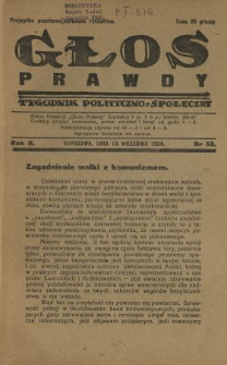 Głos Prawdy 1924 N.53