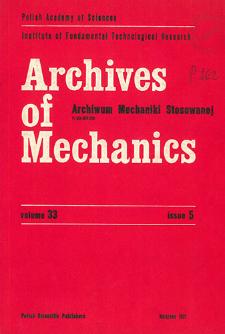 Archives of Mechanics Vol. 33 nr 5 (1981)