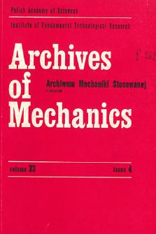 Archives of Mechanics Vol. 33 nr 3 (1981)