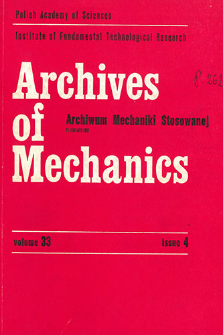 Archives of Mechanics Vol. 33 nr 3 (1981)