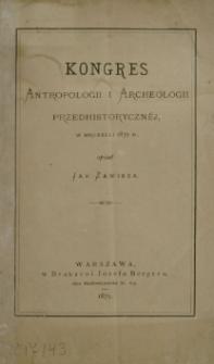 Kongres antropologii i archeologii przedhistorycznej w Bruxelli 1872 r.