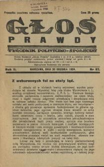 Głos Prawdy 1924 N.67