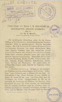 Ueber einige von Herrn J. M. Hildebrandt im Zanzibargebiete erbentete Arachniden