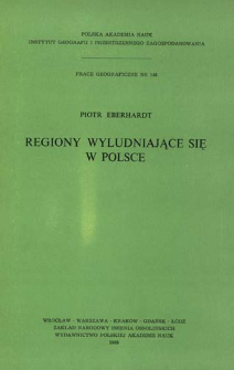 Regiony wyludniające się w Polsce = Regiony Pol'ši podvergnutye obezlûdeniû = Depopulating regions in Poland