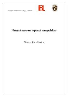 Narcyz i narcyzm w poezji staropolskiej