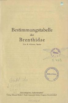 Bestimmungstabelle der Brenthidae