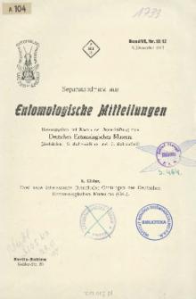 Drei neue interessante Brenthiden-Gattungen des Deutschen Entomologischen Museums (Col.)