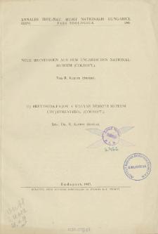 Neue Brenthiden Aus Dem Ungarisch Kn Nationalmuseum (Coleopt.) = Új Brenthida-Fajok a Magyar Nemzeti Múzeum Gyüjtemenyeböl (Coleopt.)