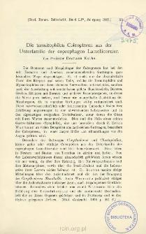 Die termitophilen Coleopteren aus der Unterfamilie der coprophagen Lamellicornier