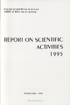 Report of Scientific Activities 1995