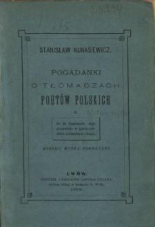 Pogadanki o tłómaczach poetów polskich : z Dr. M. Rappaport i jego stanowisko w społeczeństwie żydowskim i kraju