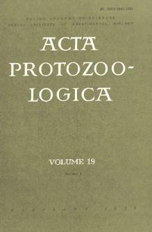 Acta Protozoologica, Vol. 19, Nr 1
