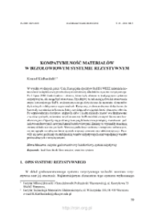 Kompatybilność materiałów w bezołowiowym systemie rezystywnym