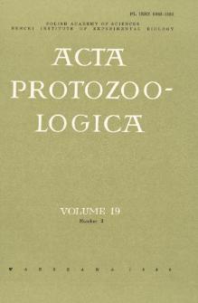 Acta Protozoologica, Vol. 19, Nr 3