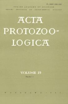 Acta Protozoologica, Vol. 19, Nr 4