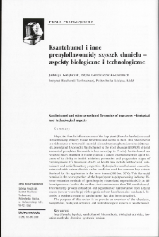 Xanthohumol and other prenylated flavonoids of hop cones - biological and technological aspects