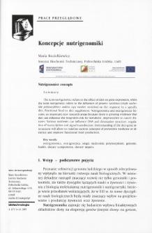 Nutrigenomics concepts