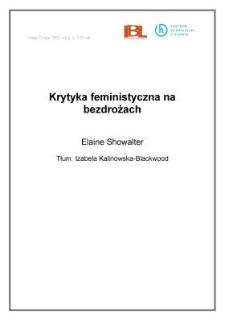 Krytyka feministyczna na bezdrożach
