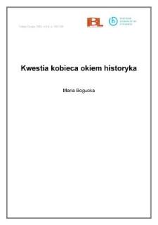 Kwestia kobieca okiem historyka