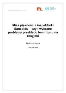 Miss piękności i inspektorki Sanepidu - czyli wybrane problemy przekładu feminizmu na rosyjski
